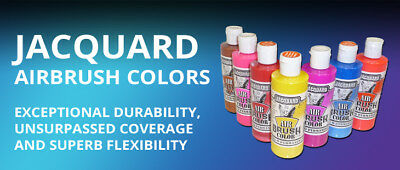 Jacquard Airbrush Colors for T-Shirt, Fabrics & Sneakers - Single 8oz Bottle