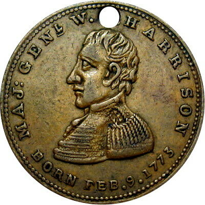 1840 William Henry Harrison Political Campaign Hard Times Token HT-815