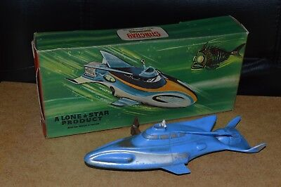 Vintage Lone Star Plastic Stingray Propellor Wind Up Toy Boxed 1960's Lonestar