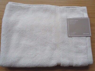 John Lewis Supima Cotton Guest Towel 100% Cotton In Oyster Rrp £9.00