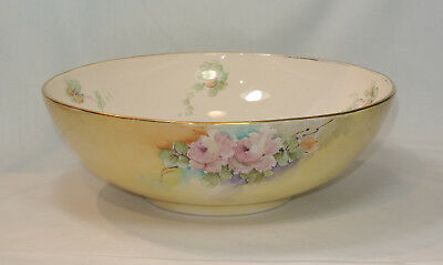 Antique THOMAS JORGENSEN Hand Painted Large Bowl Gladding McBean Artist Signed