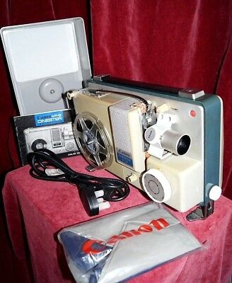 "CANON P-8 ""CINESTER"" STANDARD 8mm SILENT CINE FILM PROJECTOR - nice condition."