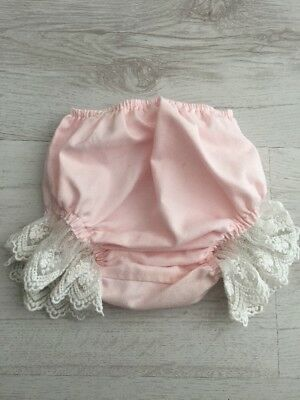 Bea Cadillac Baby Girl Spanish Bloomers Lace Frill Pants Size 9-12 M