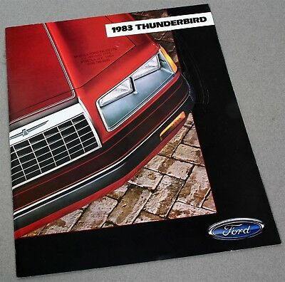 1983 Ford Thunderbird Auto Dealer Sales Brochure Booklet Very Good Condition