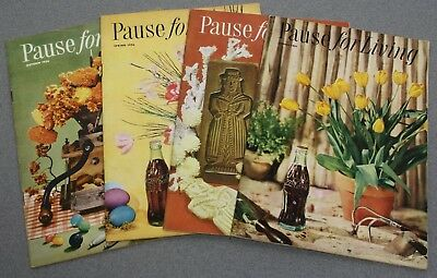 Lot of 4 1950's COCA-COLA BOTTLING COMPANY ADVERTISING PAUSE FOR LIVING BOOKLETS