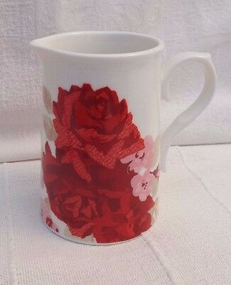 Laura Ashley  Pottery Jug - Red Roses / Flowers