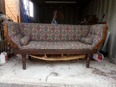 Edwardian (?) Vintage Settee Sofa Chaise Going Cheap. Buyer Collects.