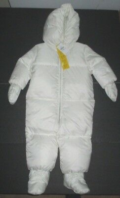 New Nwt Boys Girls Ralph Lauren Off White Down Puffer Snowsuit Size 18 Months