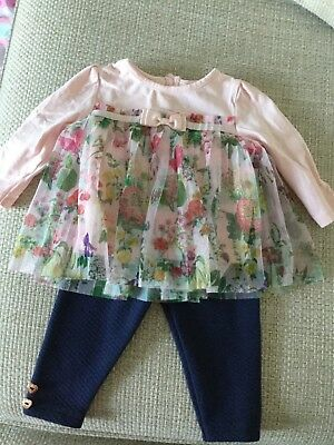 Baby Girls Ted Baker Outfit Size 3-6 Months