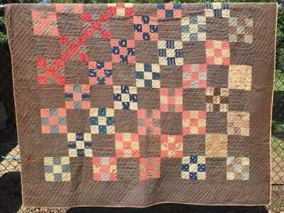 Antique 1800s Quilt ~ Cutter - Stacker - Crafts -  Clam Shell Quilting - As is