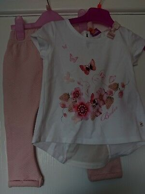 Ted baker baby girls top and Leggings set age 18-24 months NEW