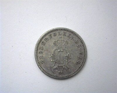 Norway 1889 Silver 10 Ore  About Uncirculated