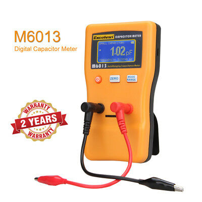 Excelvan M6013 Digital Capacitor Meter Tester Multimeter 0.01 pF to 470000 uF