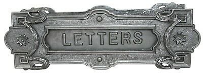 MAILBOX LETTER SLOT swinging door wall mounted cast iron neo classical antique