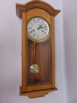 Vintage LINCOLN 31 Day Wall Clock Pendulum Chimes Wind-Up With Key - M32