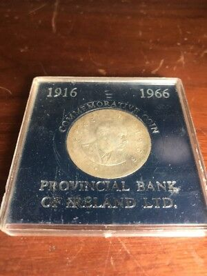 Vintage Irish 10 Shilling 1966 Easter Uprising Proof Coin from Bank of Ireland