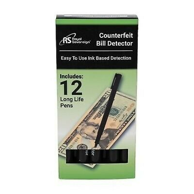 Royal Sovereign Counterfeit Bill Detection Pens - Package of 12