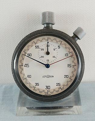 Lemania Stoppuhr Stopwatch Rattrapante ähnliche Bauweise Omega / Heuer