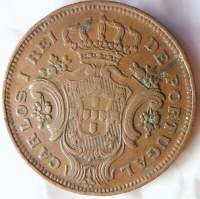 1901 AZORES 10 REIS - VERY HARD TO FIND COIN - BIG VALUE - Lot #523