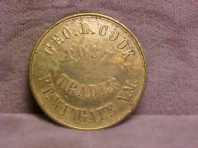 Fort Wingate New Mexico Trading Post 25 Cents Token 1871