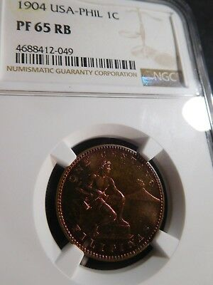 B45 Philippines 1904 Centavo NGC PROOF-65 Red Brown