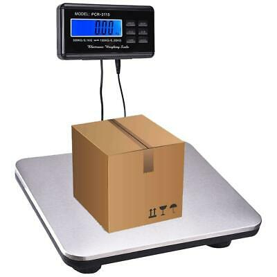 PCR-3115 Heavy Duty 660 Lb Digital Shipping Mailing Postal Scale 300 Kg Silver