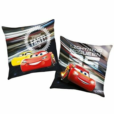 Think Fast | Almohada 40 x 40 cm | Disney Cars | Niños Cojín Decoracion