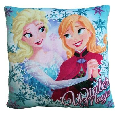 Winter Magic | Niños Cojín | Disney Frozen | Azul | 35 x 35 cm | Almohada