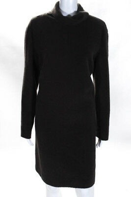 9cde139ea9b Calvin Klein Collection Brown Long Sleeve Turtleneck Vintage Dress Size  Small
