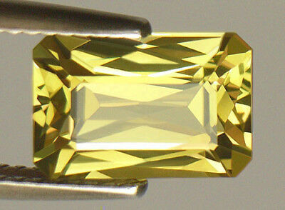 3.51Ct Bright Yellow Exquisite Emerald Scissors Cut Sri Lankan Chrysoberyl