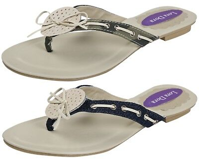 1c9bd7331a43 Womens Summer Sandals Diamante Jewel Flip Flops Toe Posts Beach Shoes Ladies