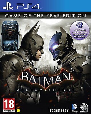 Batman: Arkham Knight - Game Of The Year Edition (PS4)  BRAND NEW AND SEALED