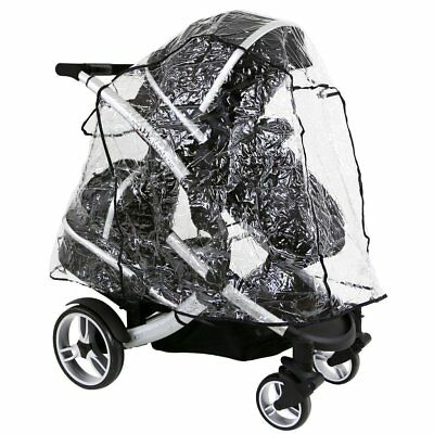 Universal Tandem Rain Cover To Fit iCandy,Baby Style, Hauck, Phil & Teds Tandems