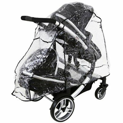Universal Tandem Rain Cover To Fit Baby Jogger City Select & LUX Tandem