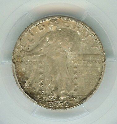 1928-S Standing Liberty Silver 25 Cents -Full Head- Pcgs Ms66 Rare This Nice!