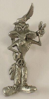 Wile E. Coyote Pewter Pendant Peace Sign Hippie Starline Warner Bros ©1993