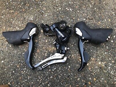 Used Pair Of Shimano 105 5700 10 Speed shifters Left & Right Front & Rear Mech