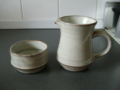 Welsh Pottery / Creigiau / Milk Jug And Sugar Bowl