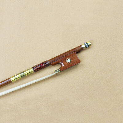New 4/4 Size Advanced Pernambuco Violin Bow Snakewood frog copper mounted