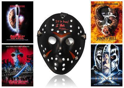 •Sale• Friday 13th Kane Hodder (Jason Voorhees) Signed Replica Mask (KH1)