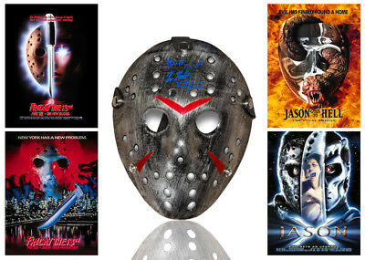 •Sale• Friday 13th Kane Hodder (Jason Voorhees) Signed Replica Mask (KH3)