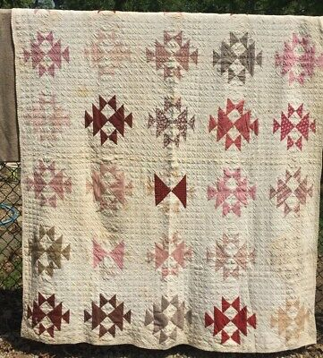 Antique 1800s Quilt ~ Cutter - Stacker - Crafts -  Inked Signatures - As is