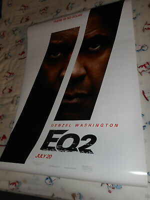 "Denzel Washington THE EQUALIZER 2 movie poster one sheet DS 27""x40"" New 2018 EQ2"