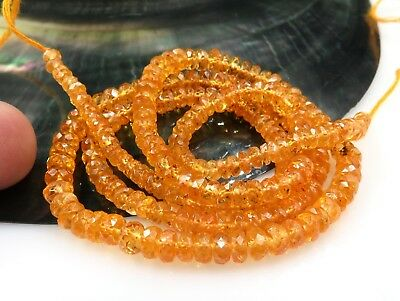 Gorgeous Rare Finest Aaaaa Vibrant Mandarin Orange Garnet Faceted Beads 18""
