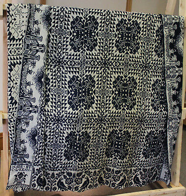 Overshot Coverlet From Mcphail Estate Pre 1830