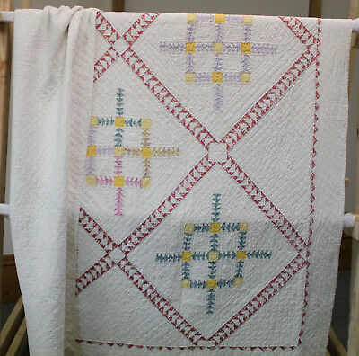 Old Mexico Design Vintage Quilt from the Metcalf Estate, Helena MT
