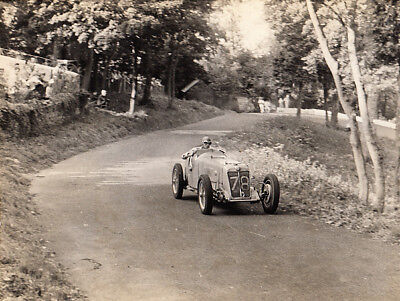 MG CAR No78 AT HILL CLIMB, PERIOD PHOTOGRAPH, BY JAMES BRYMER.