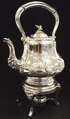 C.B. AND S. LTD LOUIS SHEFFIELD Hand Chased Silver Plated Tea Pot & Warmer - L48