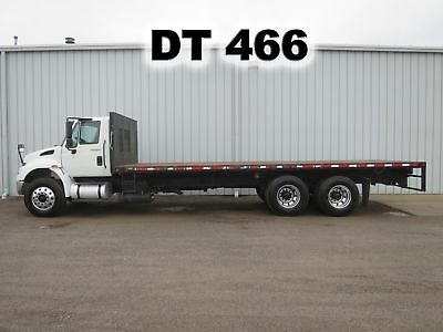 4400 Dt-466 Diesel Tandem Axle 26 Ft Flat Bed Stake Body Truck Low Miles