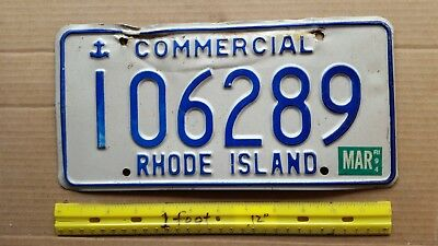 License Plate, Rhode Island, 1994, Anchor, Commercial, 106289